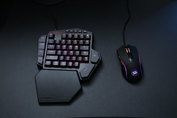 Redragon K585-BA One-Handed RGB Gaming Keyboard and M721-Pro RGB Mouse Combo