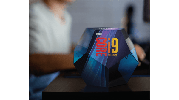 9th gen core i9 cube with background image